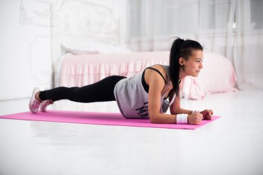 Slim fitness young woman Athlete girl