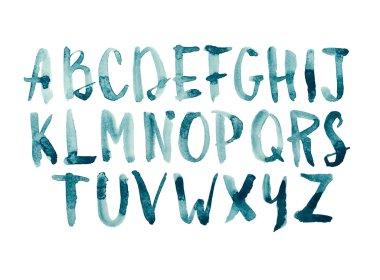 Watercolor aquarelle font type