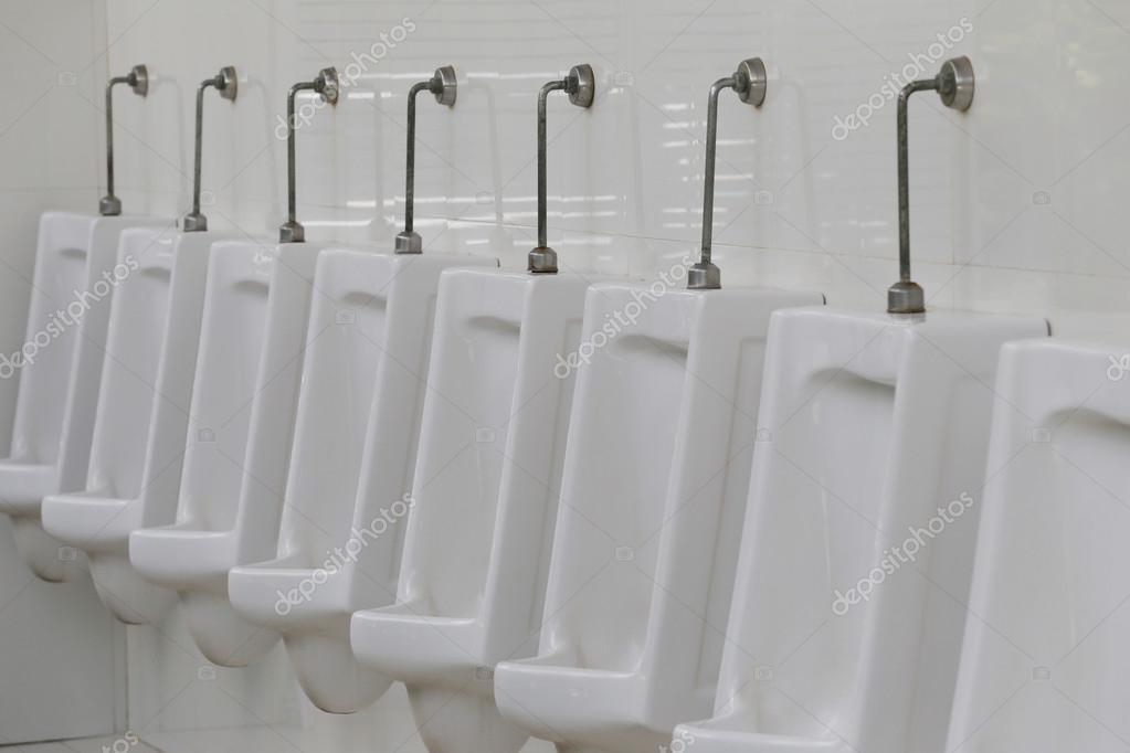 Modern Urinal In Men Bathroom. U2014 Stock Photo