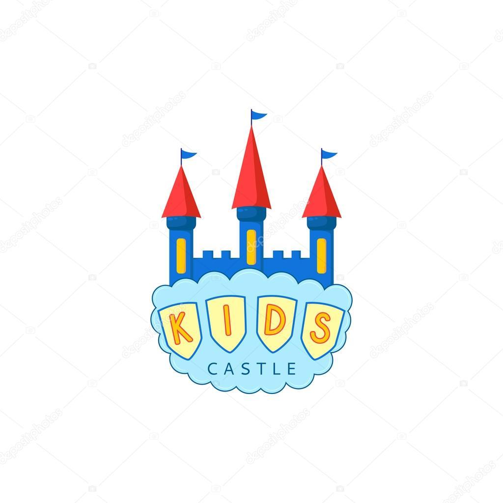 Kids Castle Playground Logo Stock Vector C Avgust01 102285694
