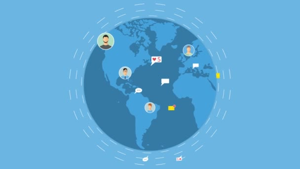 Social network concept animation.