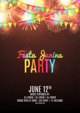 Festa junina party flyer