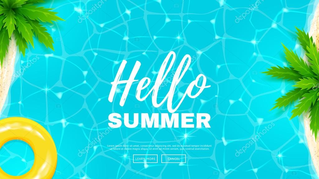 Hello summer web banner