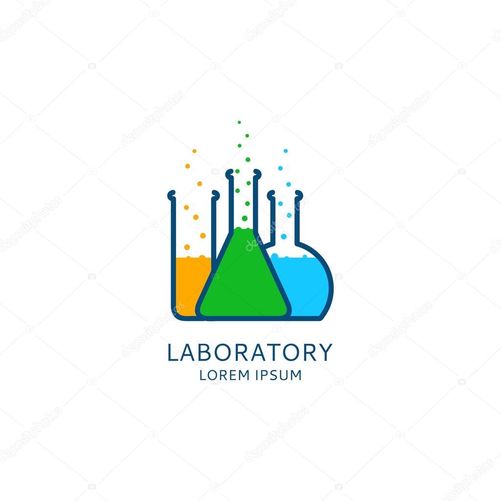 Plantilla de logotipo de laboratorio vectores — Vector de stock ...
