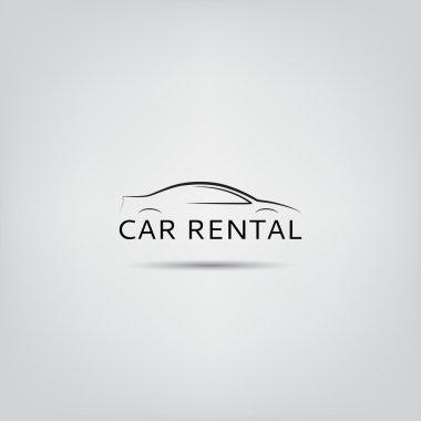 Vector template of car rental logo