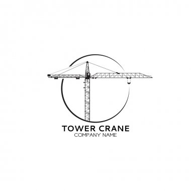 Company of tower crane logo