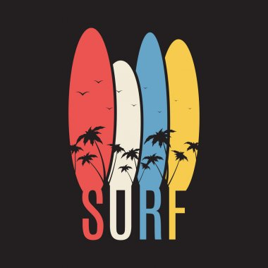Surf illustration typography