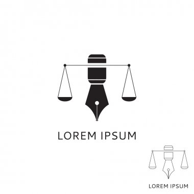 Logo of lawyer with fountain pen