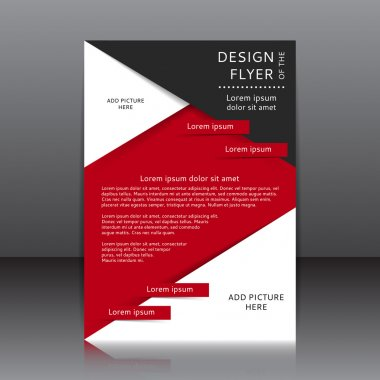 Vector design of the red and black flyer whit place for pictures