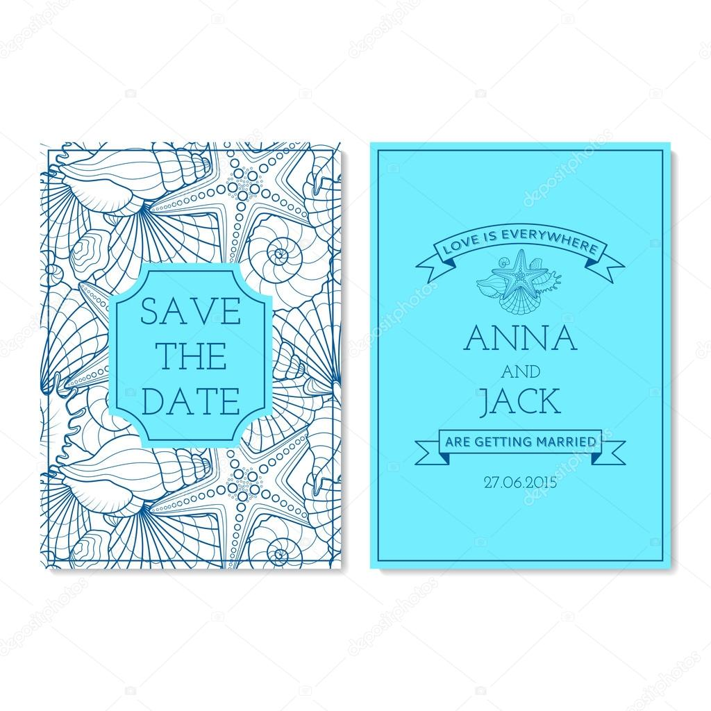 Set Of Wedding Invitation Cards Stock Vector C Avgust01 74438589