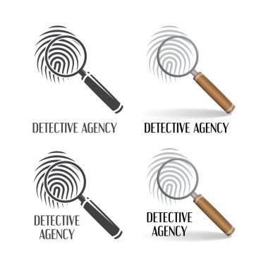 Set of logos of detective agency