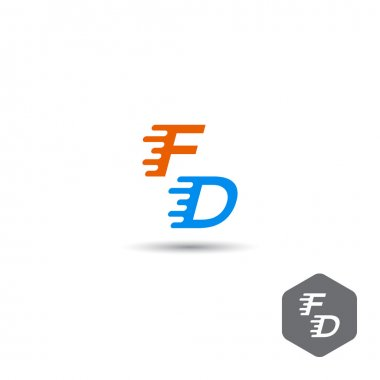 Concept of logo of fast delivery