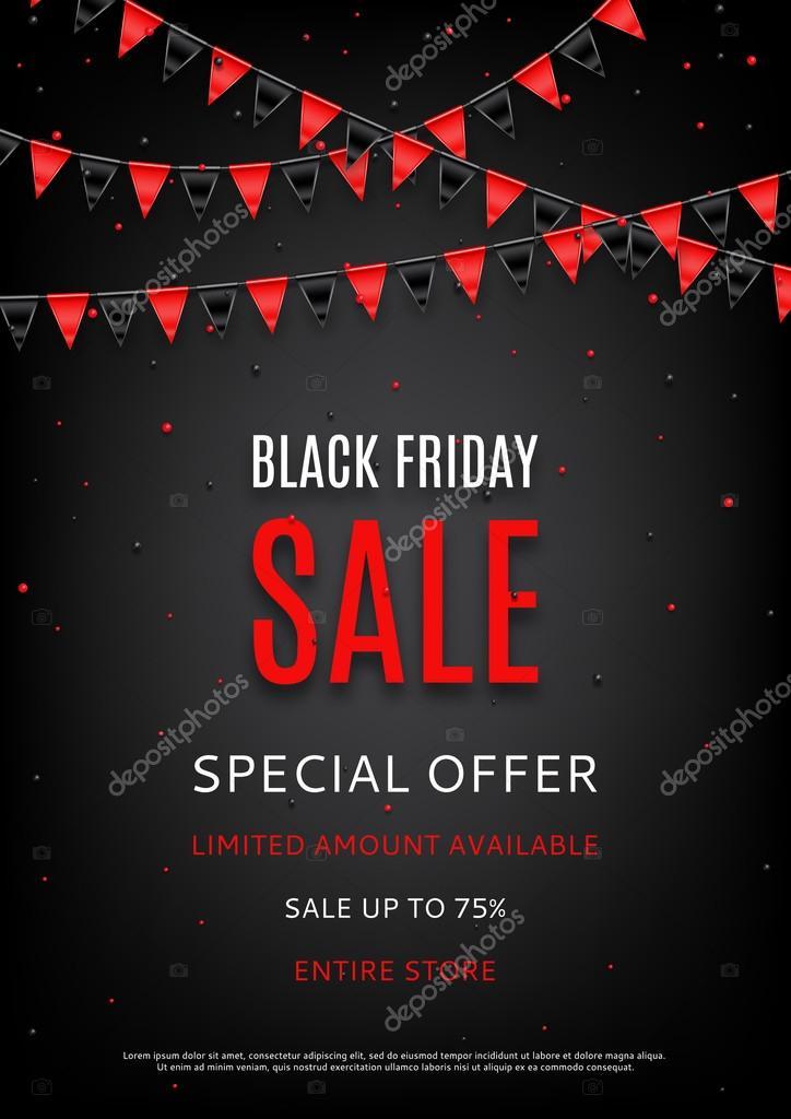 Design of the flyer of Black Friday sale