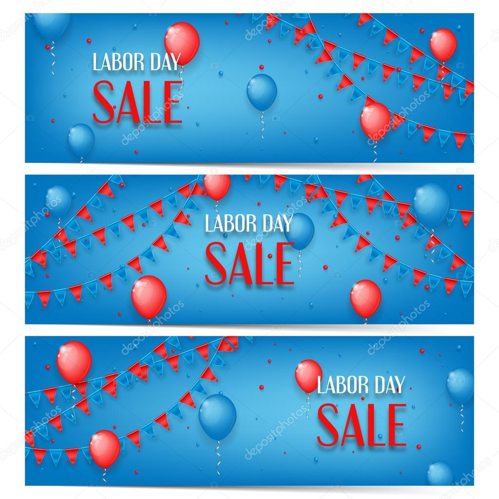 Three banners of Labor Day sale
