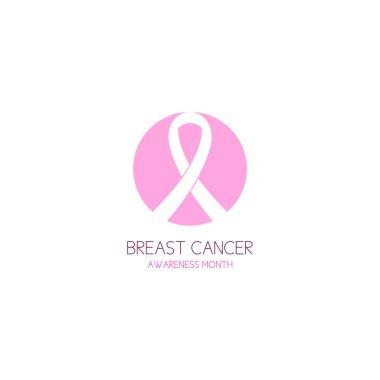 Breast cancer awareness ribbon logo vector illustration