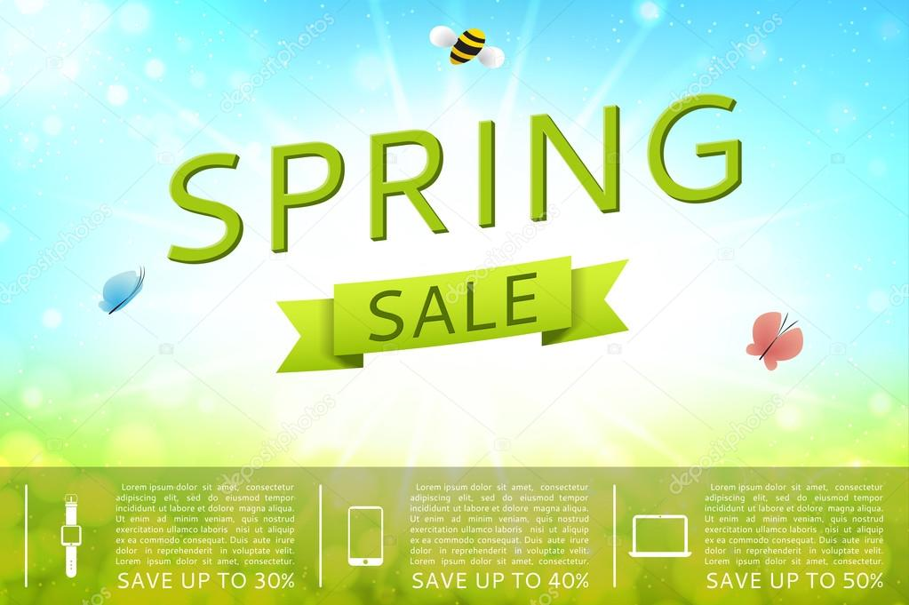 Design of the spring sale banner