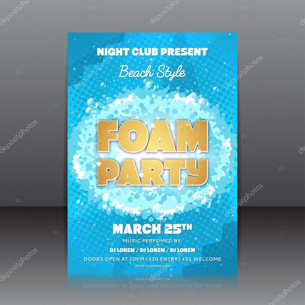 foam party flyer stock vector avgust01 98963954
