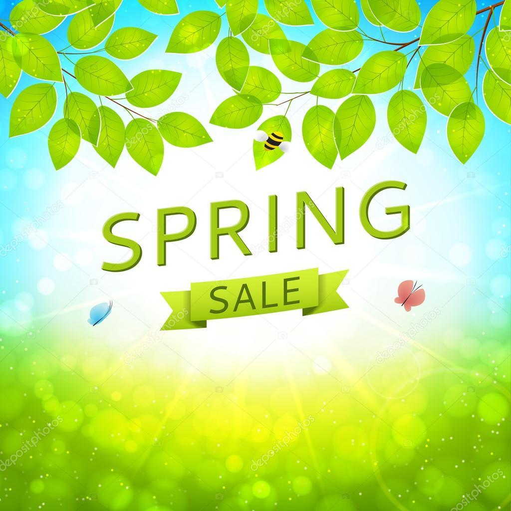 Elegant spring sale banner