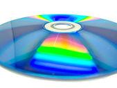 Jeden disk na bílém pozadí
