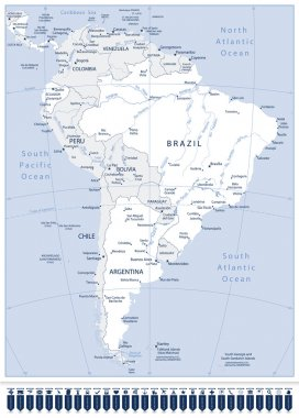 South America Detailed Map And Pointers