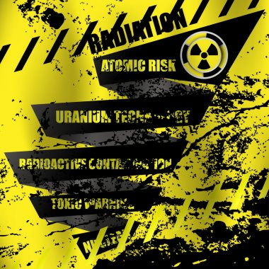Radioactive contamination abstract background