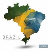 Geometric polygonal map of Brazil.