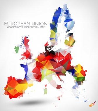 GEOMETRIC MAP OF THE EUROPEAN UNION.