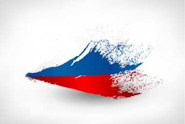 Brush painted flag of Russia