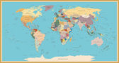 Fényképek Vintage világ Térkép