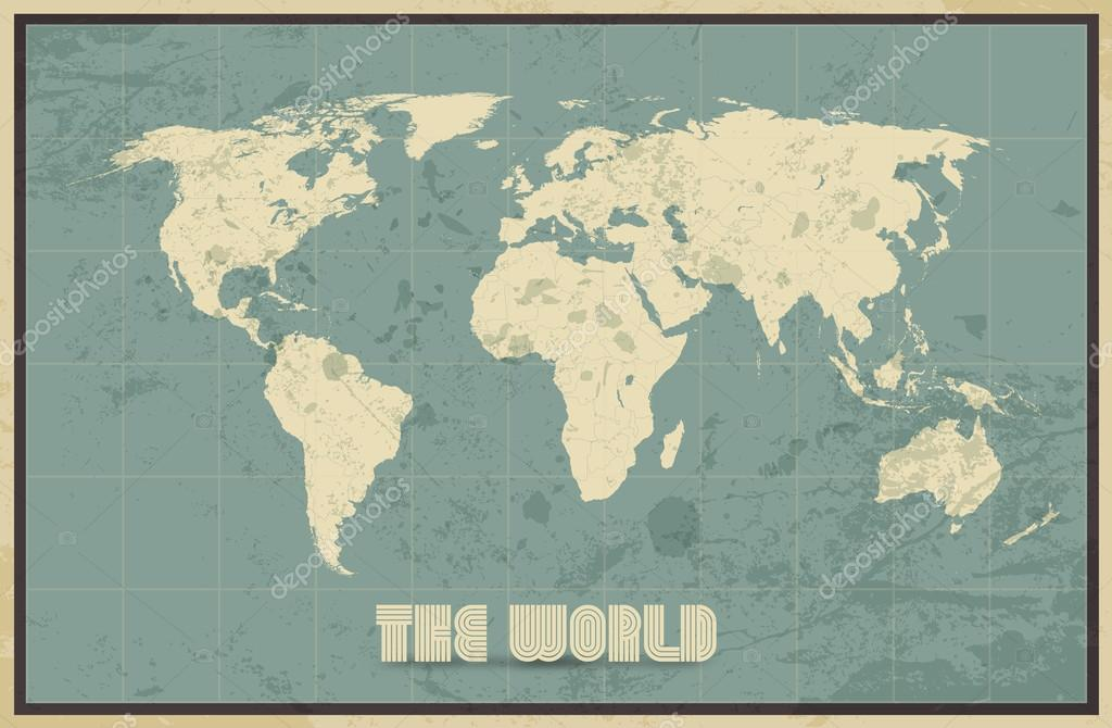 Vintage world map background stock vector livenart 83074818 vintage world map background stock vector gumiabroncs Gallery