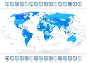 Kék világ Térkép-val navigációs ikonok