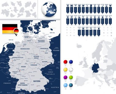 Germany Map and it's states