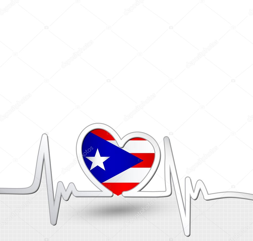 Puerto rico flag heart and heartbeat line stock vector puerto rico flag heart and heartbeat line stock vector biocorpaavc Choice Image