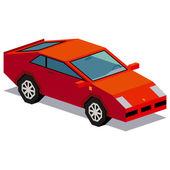 Fotografie Ilustrace sportovní auto izolovaných na bílém pozadí