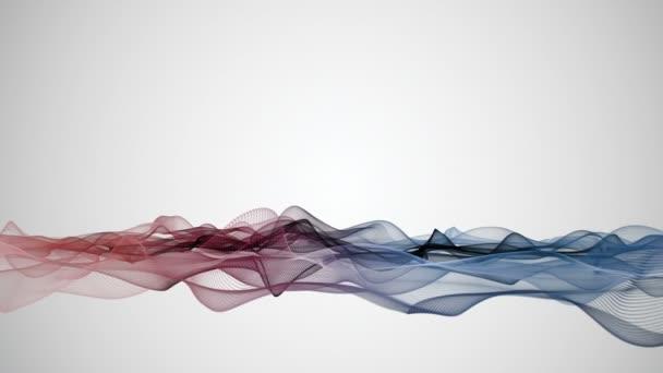 Fantastické video animace s vlnou objektu v pohybu a prostoru pro váš text, smyčka Hd 1080p