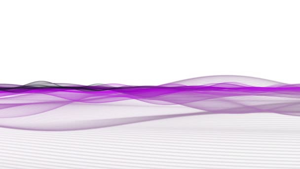 Romantic video animation with wave object in motion and space for your text, loop HD 1080p