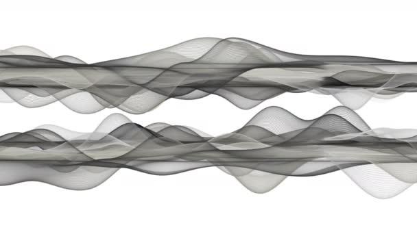 Fantastické video animace s objektem vlnu částic v pomalém pohybu, 4096 x 2304 smyčka 4k