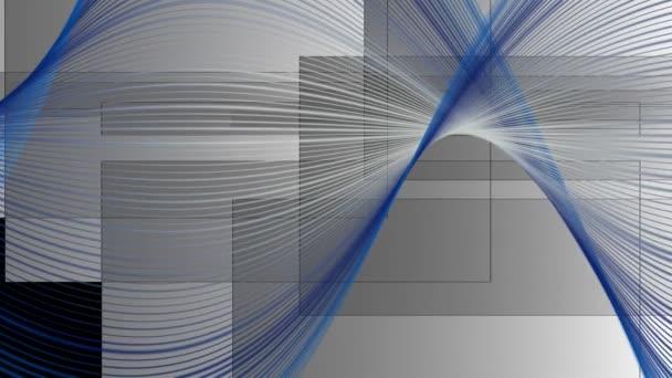 Fantastické video animace s obdélníky v pohybu a vlna objektu smyčka Hd 1080p