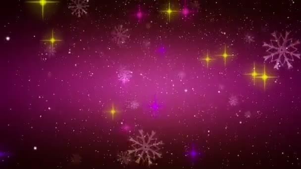 csodálatos karácsonyi OVA epizódnak mozgó csillagok és hópelyhek, hurok hd 1080p