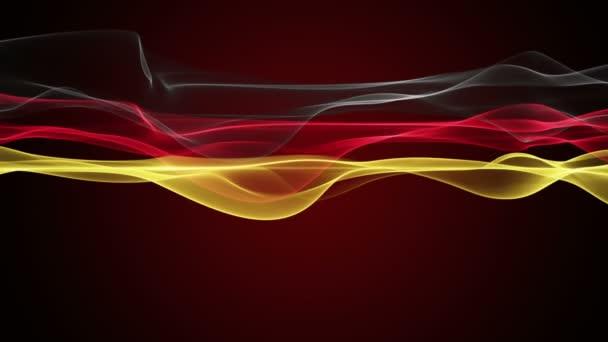 Nádherné barvy německé vlajky video animace pro sportovní události, smyčka Hd 1080p