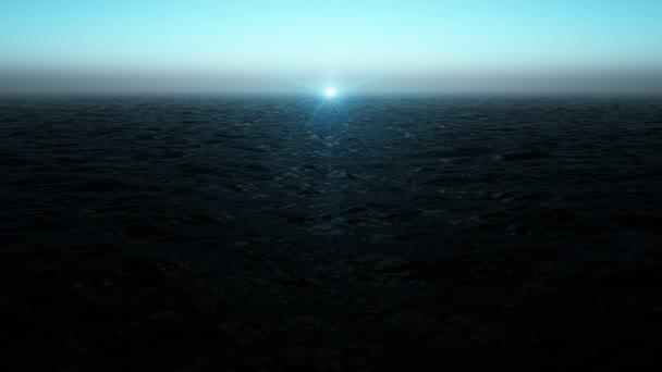 Kouzelné oceánu vlny video animace s blikající světla, smyčka Hd 1080p