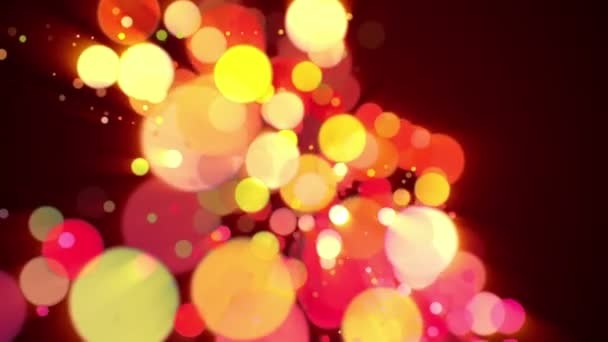 Wonderful video animation with bubbles and lights in motion, loop HD 1080p