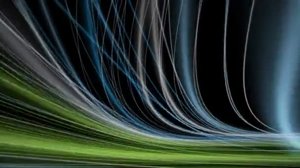 Fantastic eco video animation with stripe object in motion, loop HD 1080p
