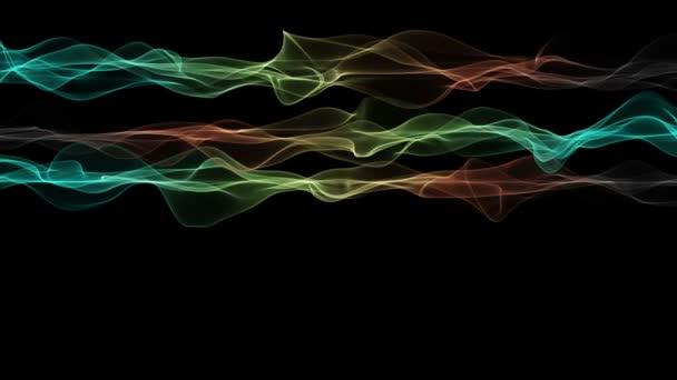 fantastické video animace s vlnou objektu v pohybu, smyčka hd 1080p