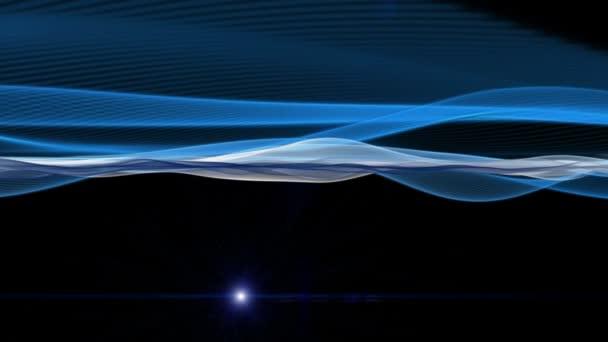 Futuristické video animace s pohybující se objekt vlny a světlo, smyčka Hd 1080p