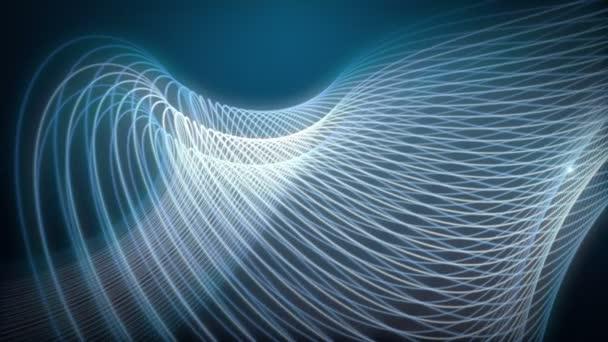 Futuristické video animace s částic stripe objektu a světlo v pohybu, opakování Hd 1080p