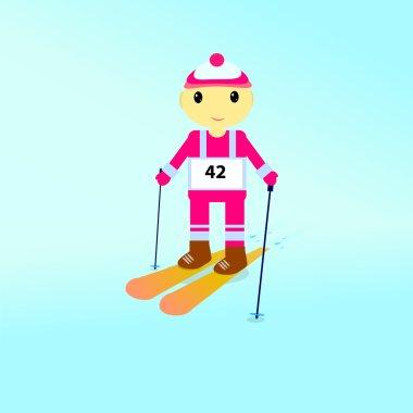 Boy on the Ski