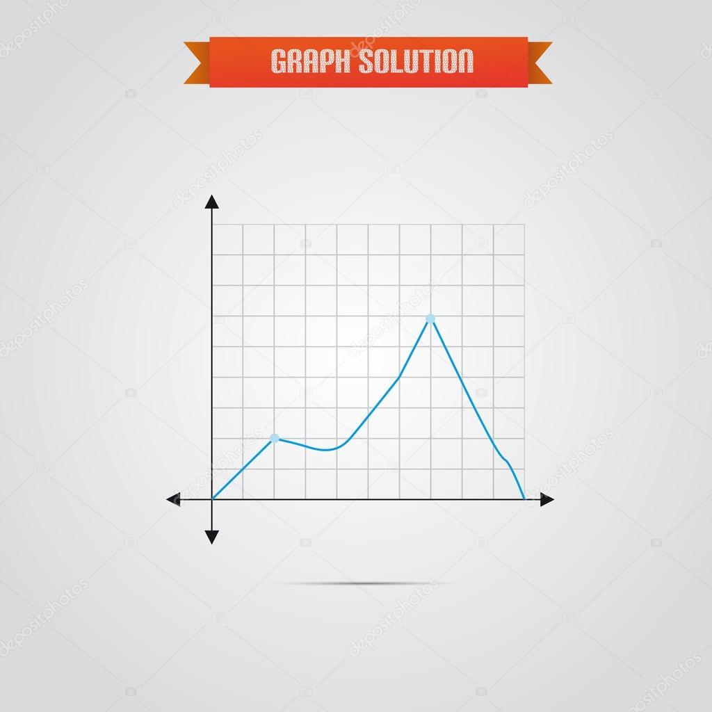 Geschäft Graph Chart mit Farbvariationen für Firmenbroschüren und ...