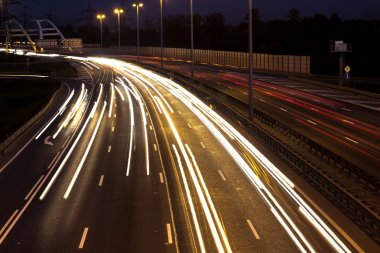 Long time exposure on a highway