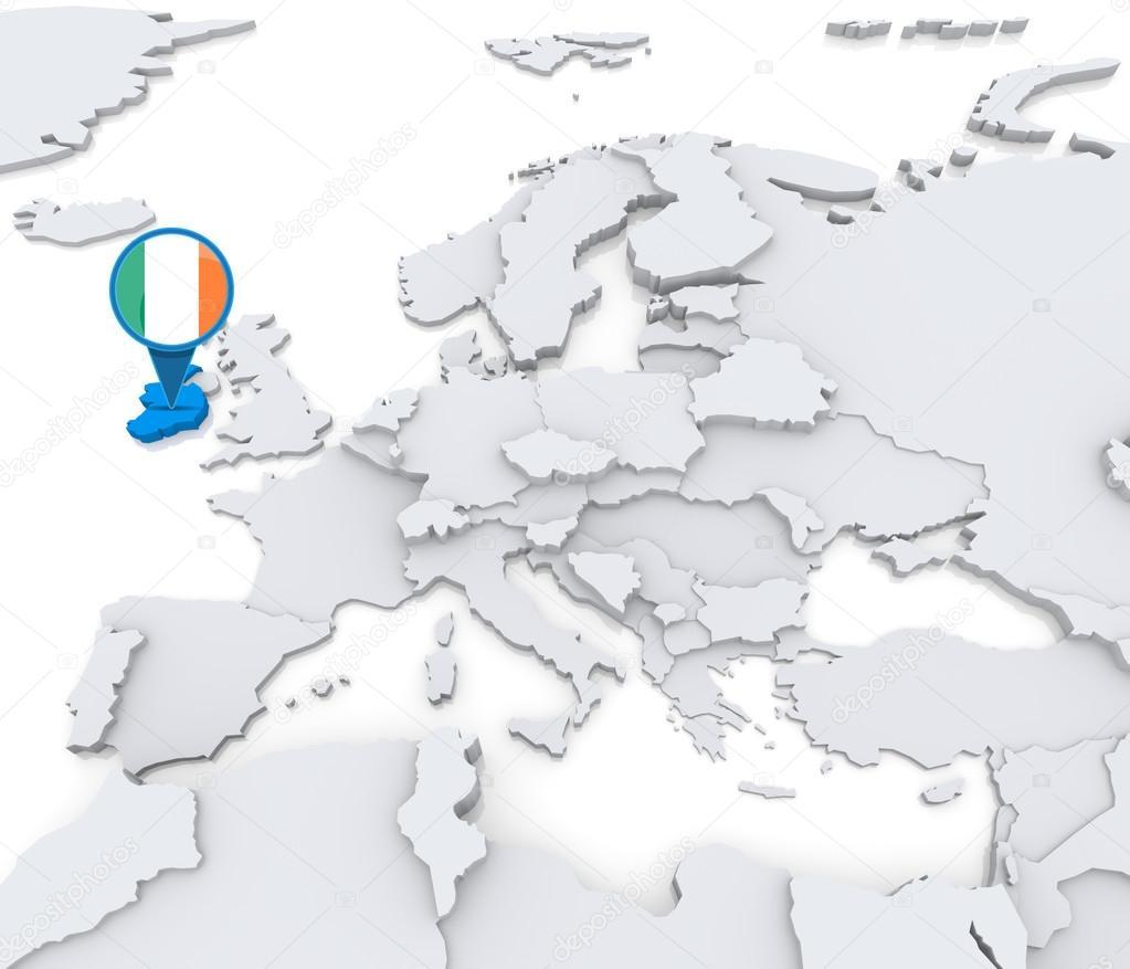 Irland Karte Europa.Irland Auf Einer Karte Von Europa Stockfoto Kerdazz7 52549437